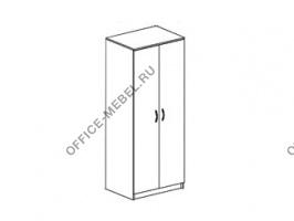 Шкаф для одежды со средней стойкой 09702 на Office-mebel.ru